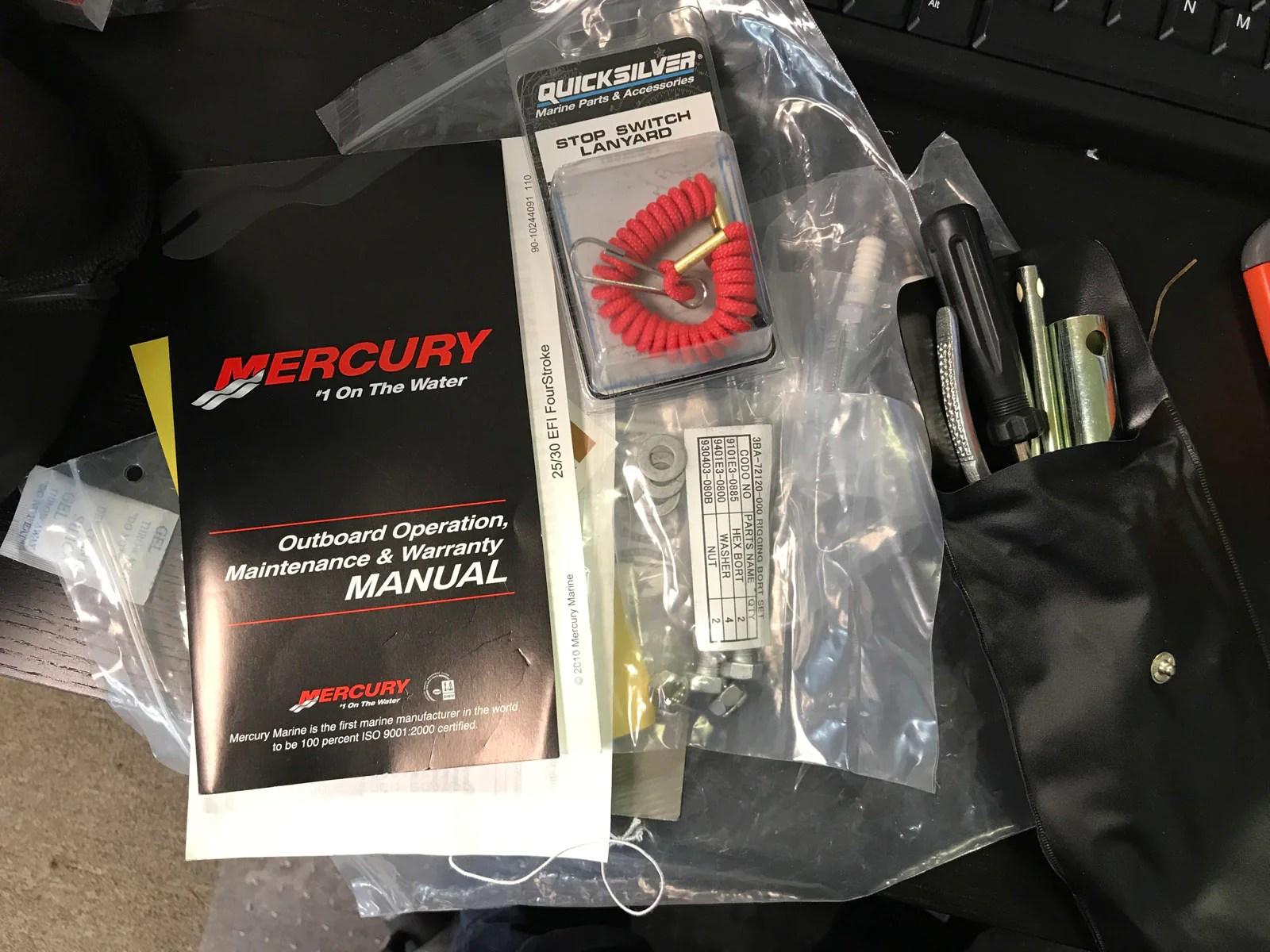 medium resolution of  mercury 25 hp portable 4 stroke outboard motor manual start like new warehouse deal