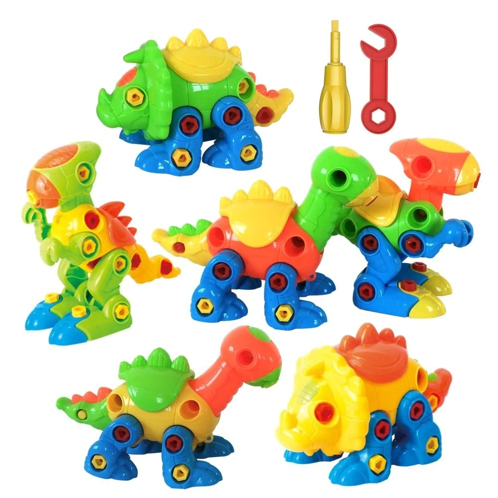 Agreatlife Take Apart Dinosaur Toy Set With Tools