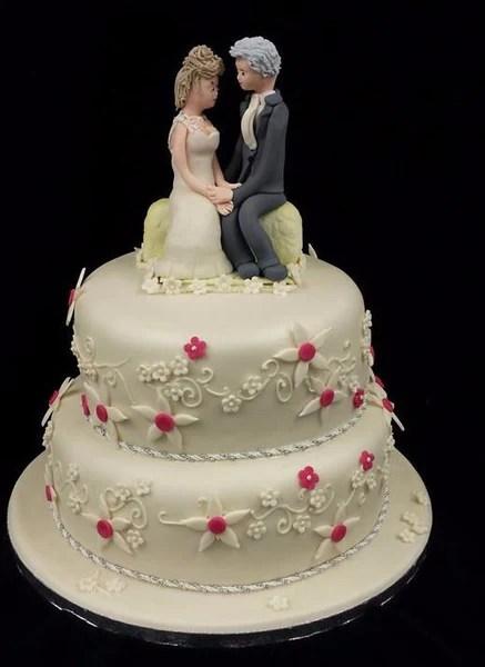 2 Tier Flower Wedding Cake Celticcakes Com