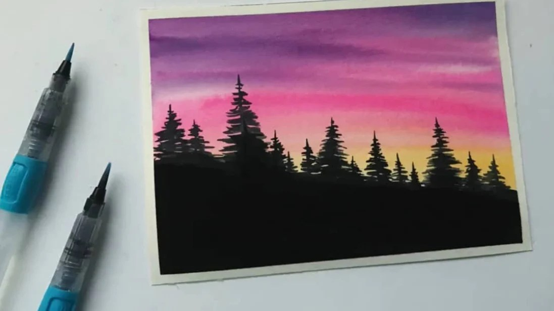 how to paint forest