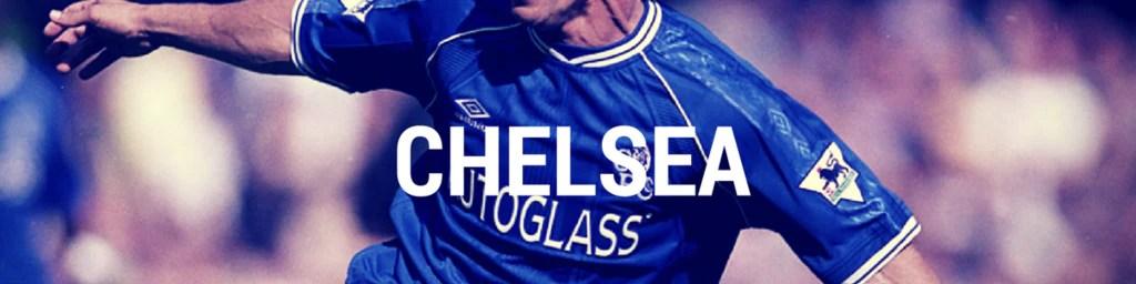 Vintage Chelsea football shirts