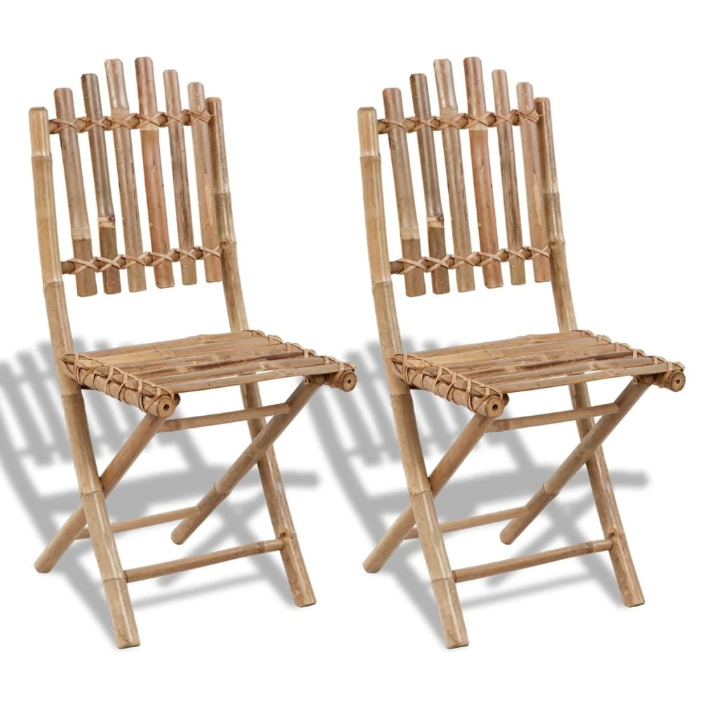 Bamboo Chairs Fold Able Bamboo Chair Set Of 2