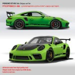 Porsche Gt3 Rs Racing Side Stripes For Carrera