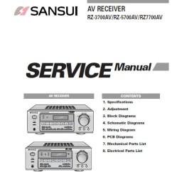 Av Receiver Wiring Diagram 1991 Jeep Wrangler Sansui Rz 3700av 5700av 7700av Service Manual Inc Bl The Manuals
