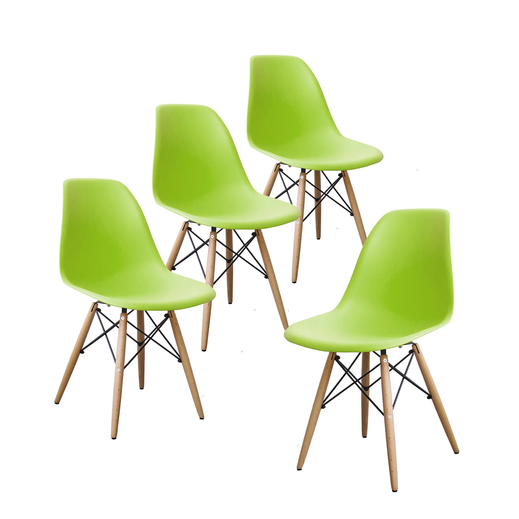 modern green dining chairs inflatable bean bag chair buschman set of 4 eames mid century store