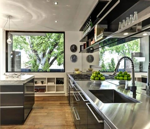kitchen mirrors hotels with kitchens in san diego how to use make any space look bigger mirrordeco image source glamourdrop