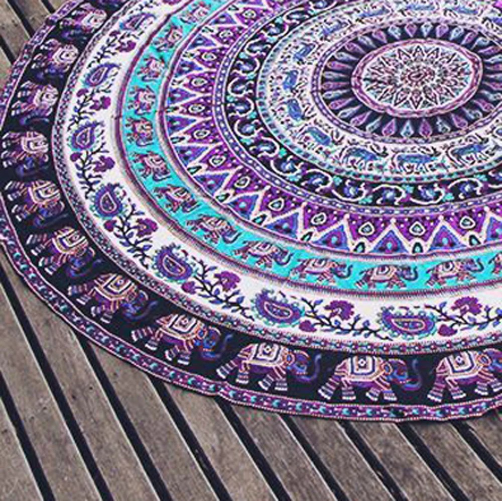 wine decor kitchen accessories modern faucets purple elephant round mandala beach throw – familyrex