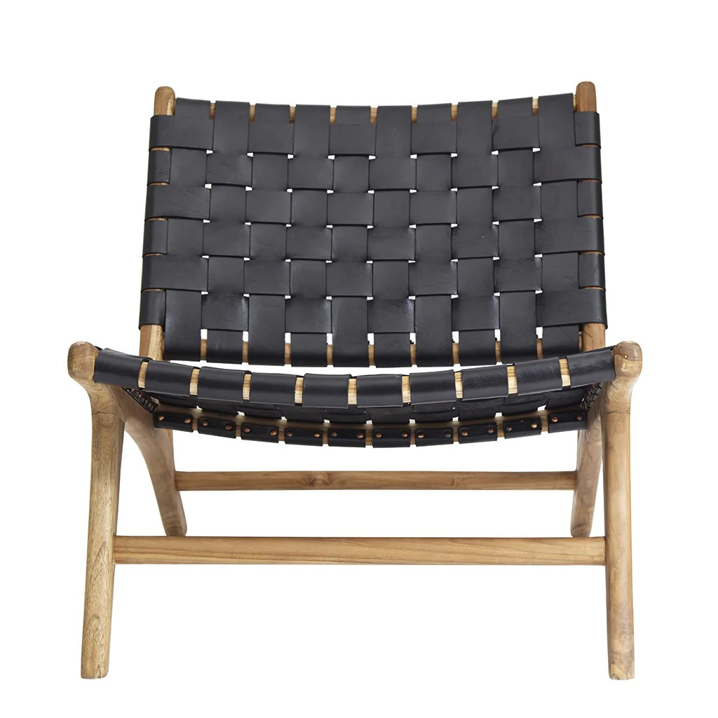 Black Leather Lounge Chair Black Leather Teak Lounge Chair