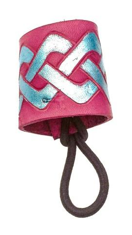 teal leather violet celtic knot
