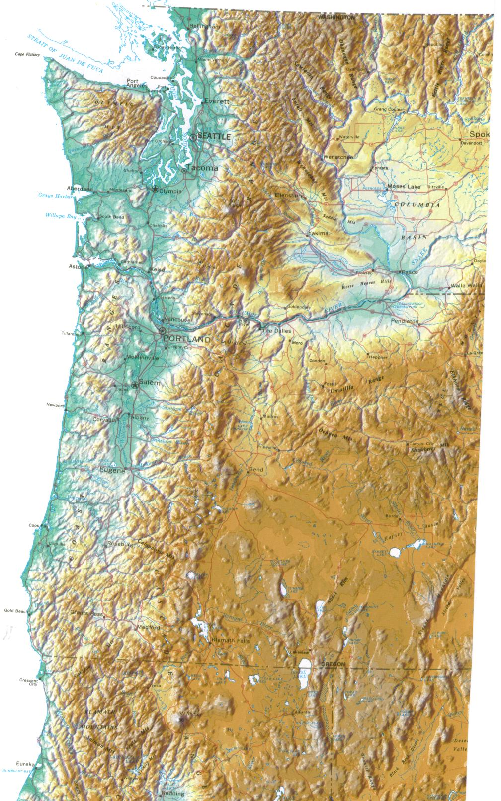Maybe you're looking to explore the country and learn about it while you're planning for or dreaming about a trip. United States Topographic Wall Map By Raven Maps 37 X 58