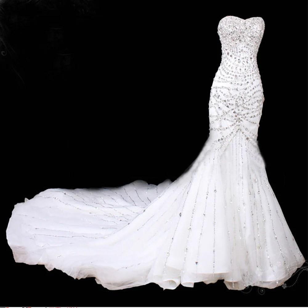 glitter white mermaid wedding