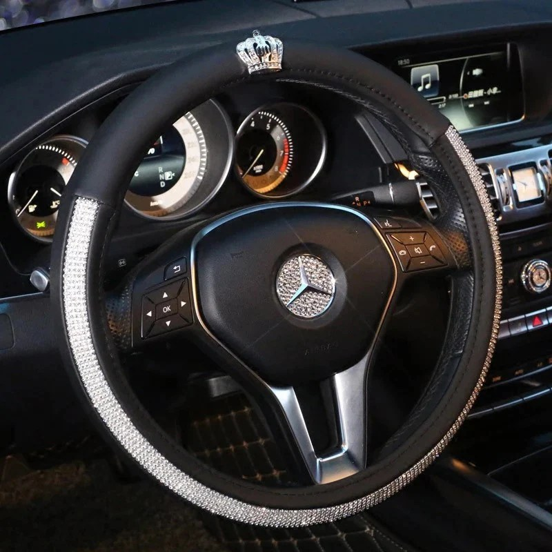 bedazzled steering wheel cover