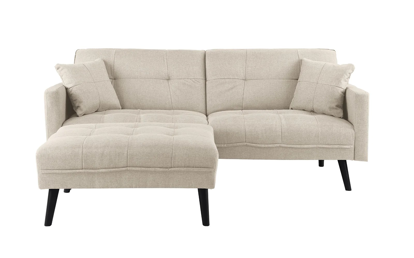 berwick mid century sleeper sofa dania chaise madison linen sofamania