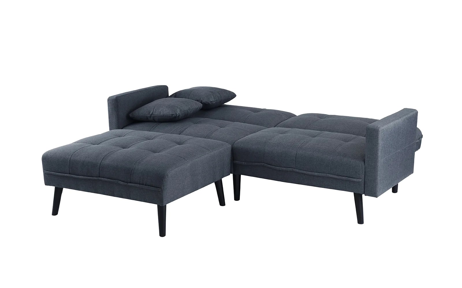 berwick mid century sleeper sofa curved sectional with ottoman madison linen sofamania