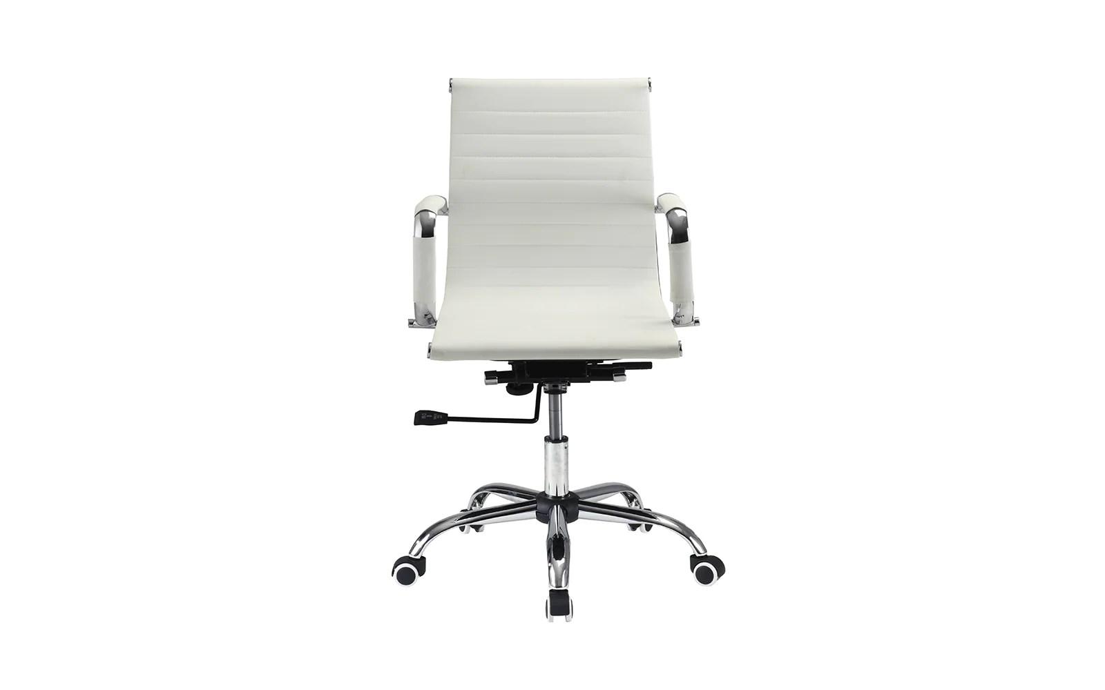 swivel chair inventor school desk leather office saarinen executive arm