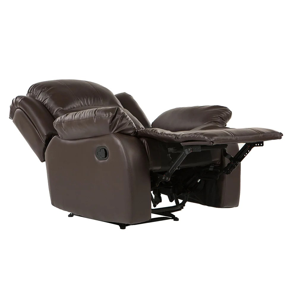 leather recliner chairs glider chair stool bob classic sofamania com bonded in brown