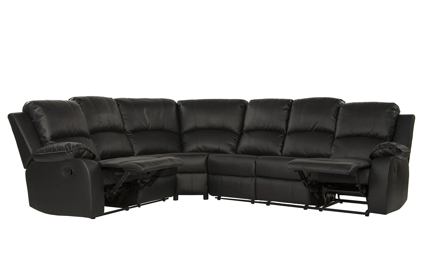 angus bonded leather reclining sofa pottery barn sofas reviews recliner sectional bond classic