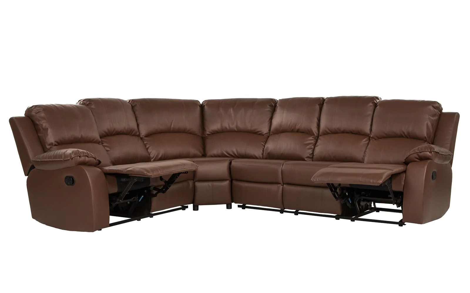 angus bonded leather reclining sofa unusual beds uk recliner sectional bond classic