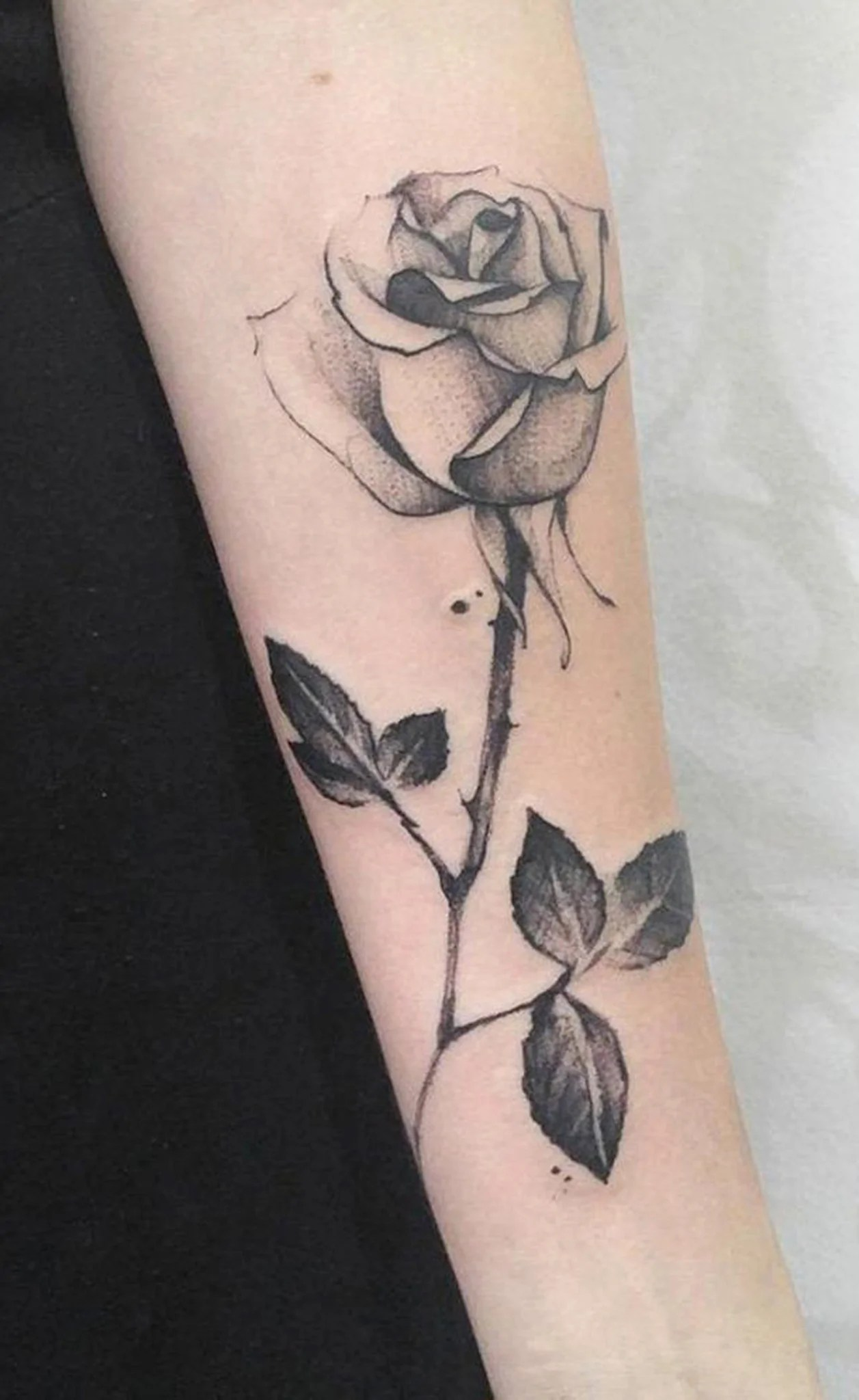 Realistic Roses Tattoo Drawings