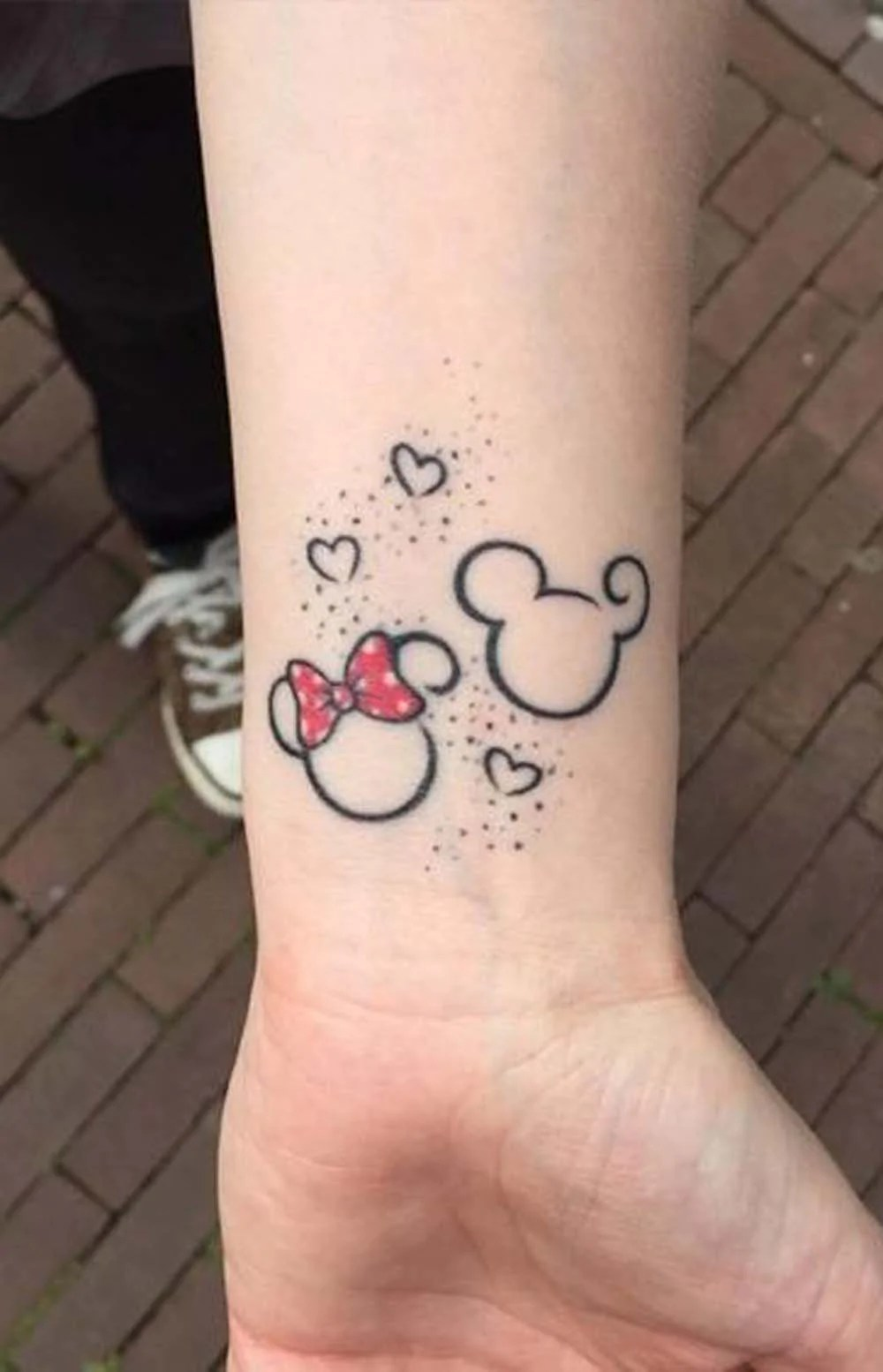 Mickey Mouse Tattoo With Name