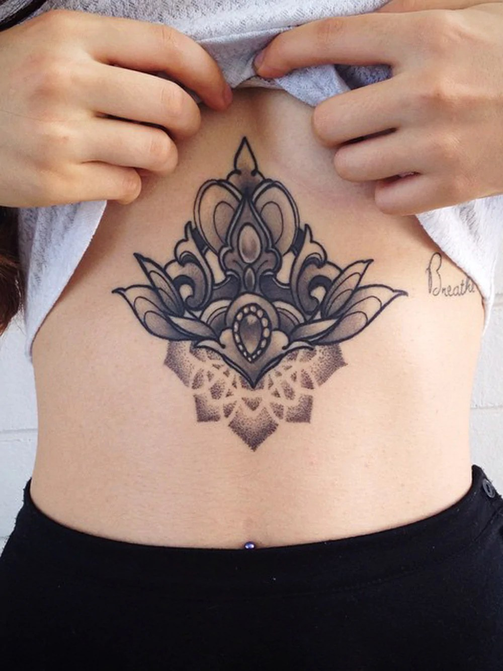 Small Belly Button Tattoos For Females
