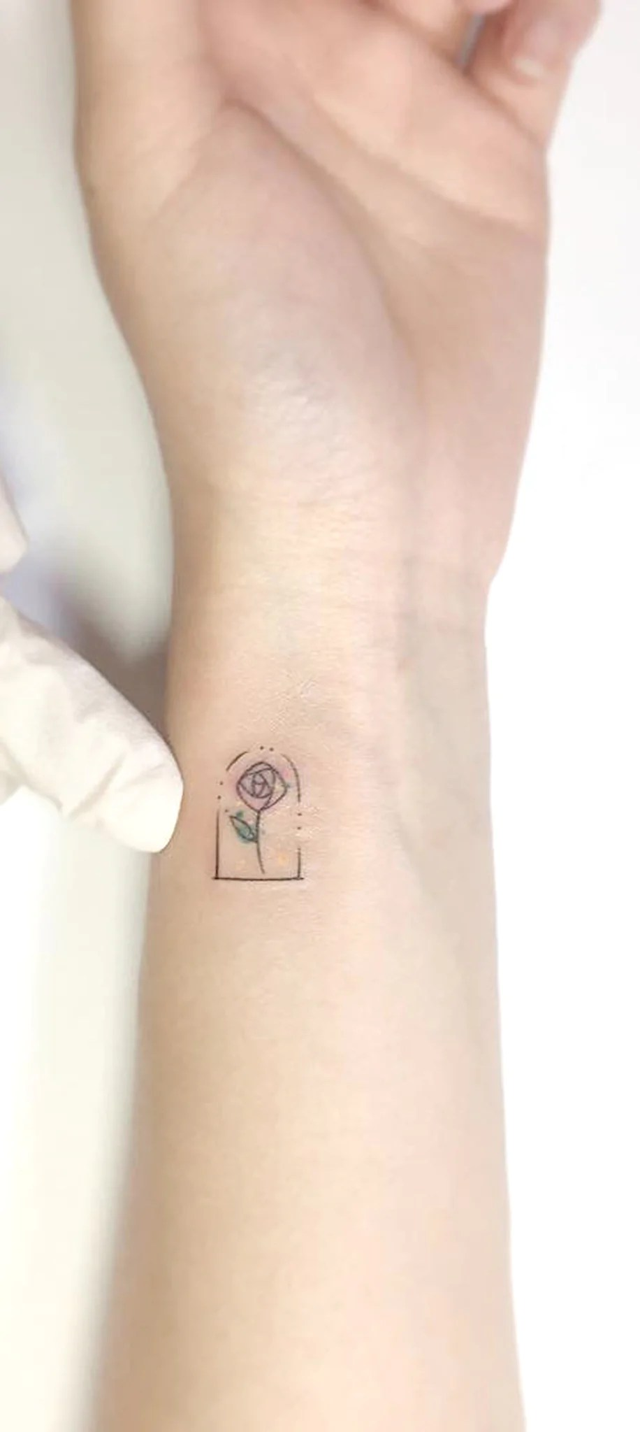 Minimalist Tattoo Flower