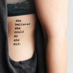 Girl Power Tattoo Quotes Wall Light Switch Wiring Diagram Uk 30 43 Feminine Rib Ideas For Women That Are Very