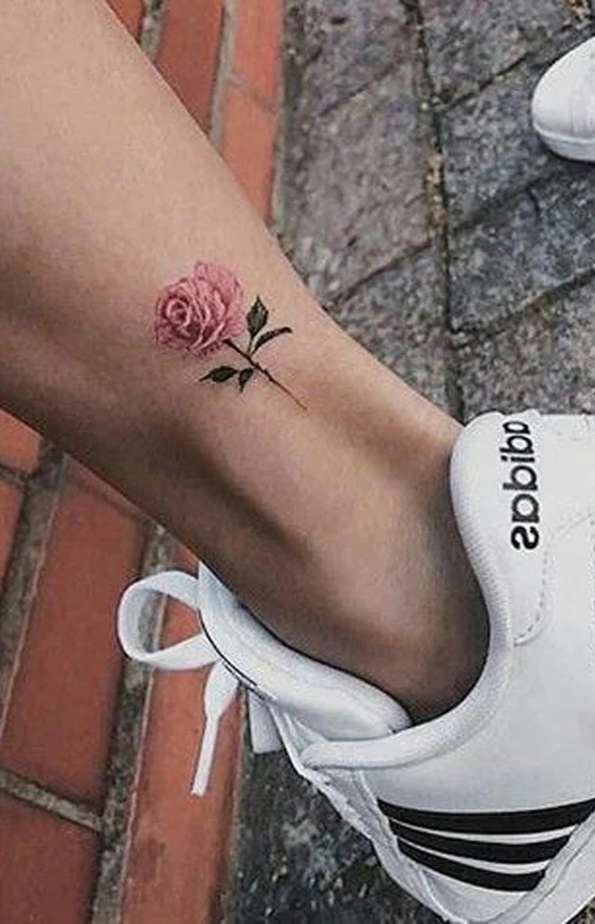 Small Rose Tattoo On Foot : small, tattoo, Simple, Small, Flower, Tattoos, Ideas, Women, MyBodiArt