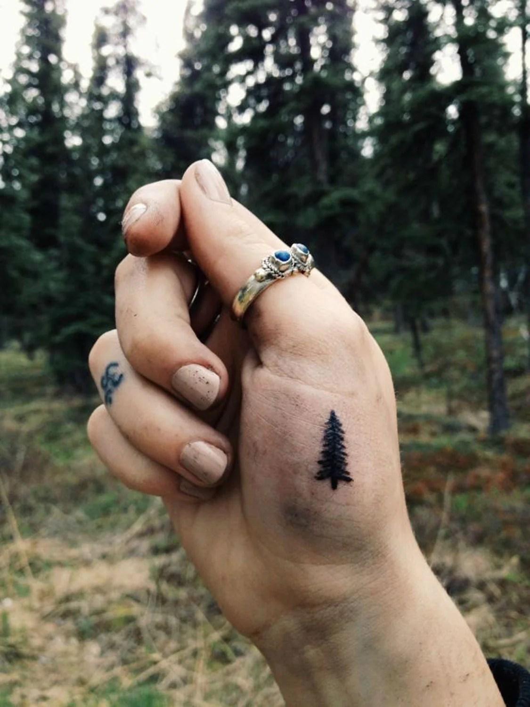 Evergreen Tree Tattoo : evergreen, tattoo, Beautiful, Tattoo, Ideas, Women, MyBodiArt