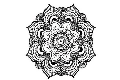 ventre traditional geometric black