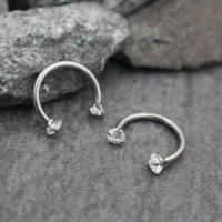 Swarovski Septum Ring Horseshoe, Septum Jewelry 16G, Rook ...