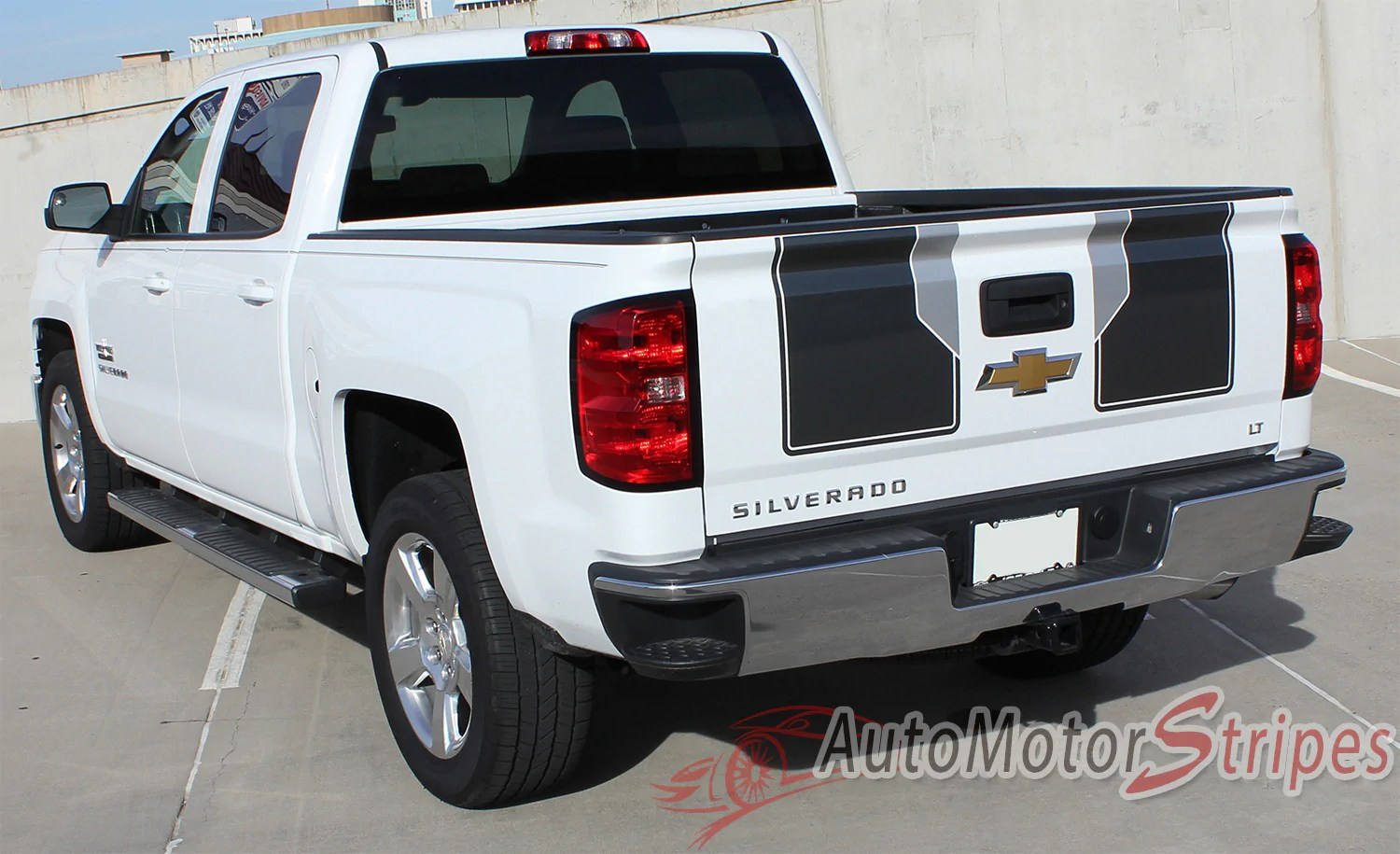 small resolution of  2014 2015 chevy silverado 1500 rally plus edition style truck racing vinyl graphics rear