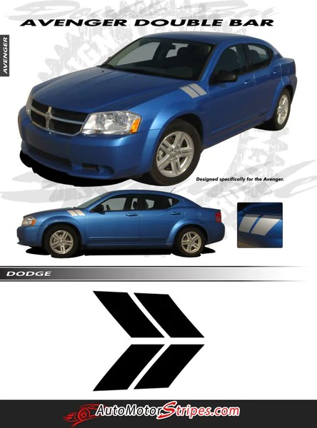 2005 Dodge Avenger : dodge, avenger, 2008-2014, Dodge, Avenger, Stripes, Marks, Double, Vinyl, Decal, Motor, Decals, Graphics, Striping