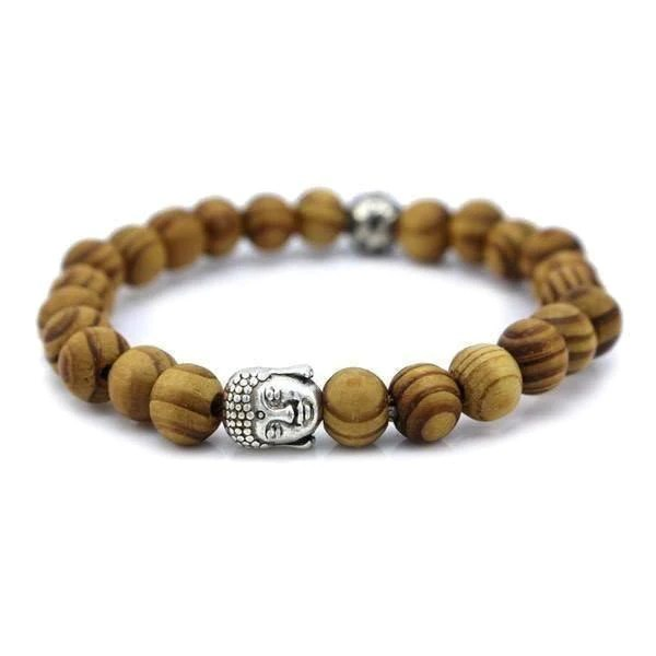 Wood Beads Tibetan Buddha Prayer Bracelet Ring to Perfection