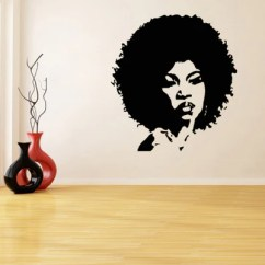 Afrocentric Living Room Ideas Paint Colors For 2016 And Natural Hair Earrings Afro Vinyl Wall Decal Home Decor African American Apartment House