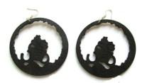 Full Afro Hoop earrings (3 colors)  Ethnic Earring