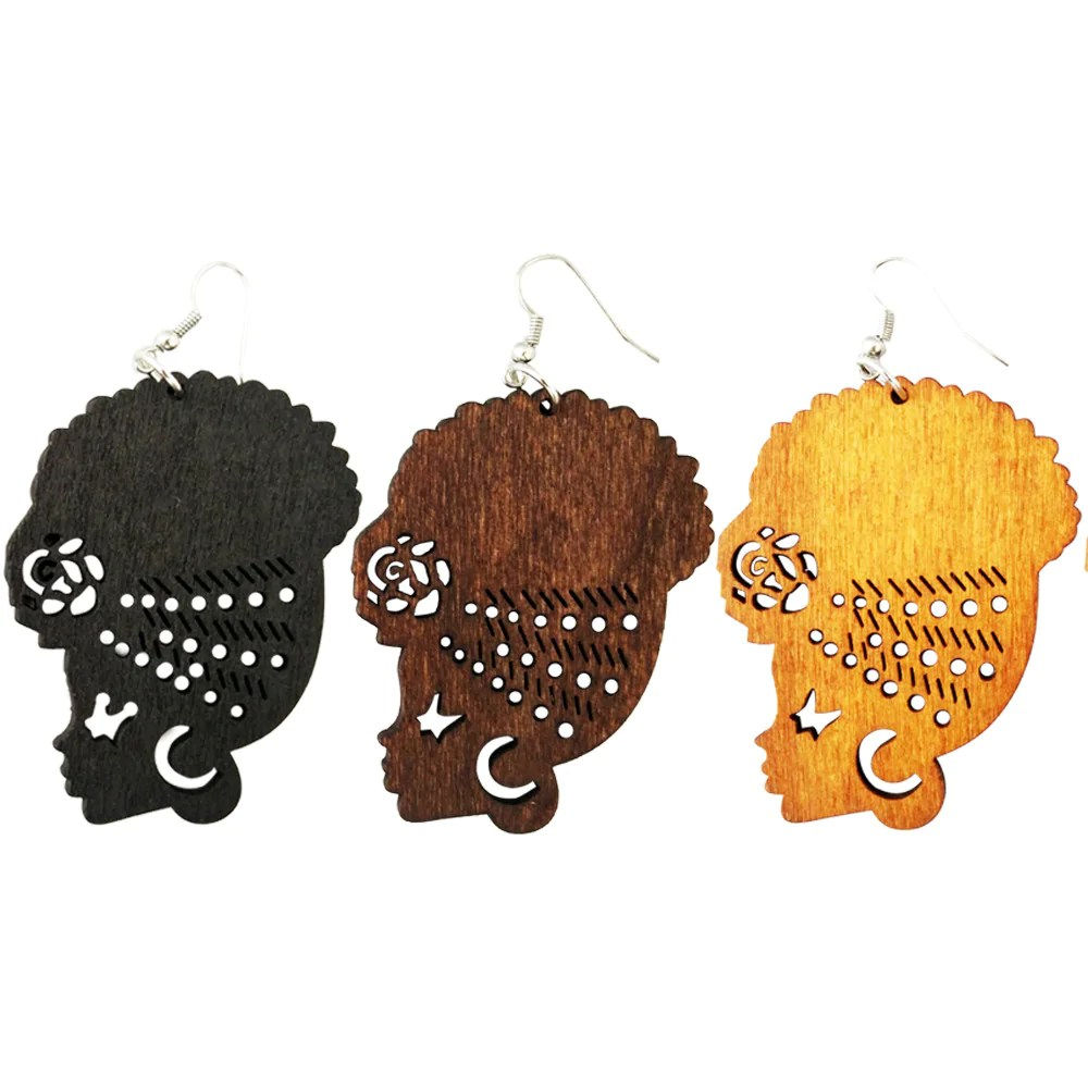 natural hair earrings and afrocentric