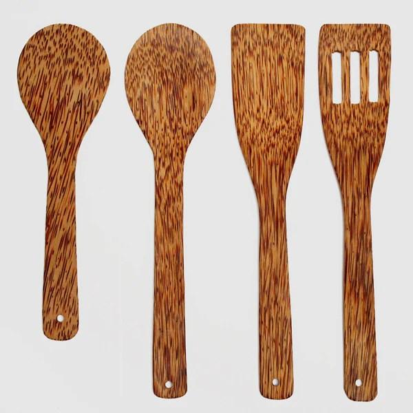 kitchen utensils set knives coconut wood utensil nom living