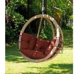 Hammock Chair Swing Stand Nursery Recliner Single Terracotta Wooden | Globo Barn