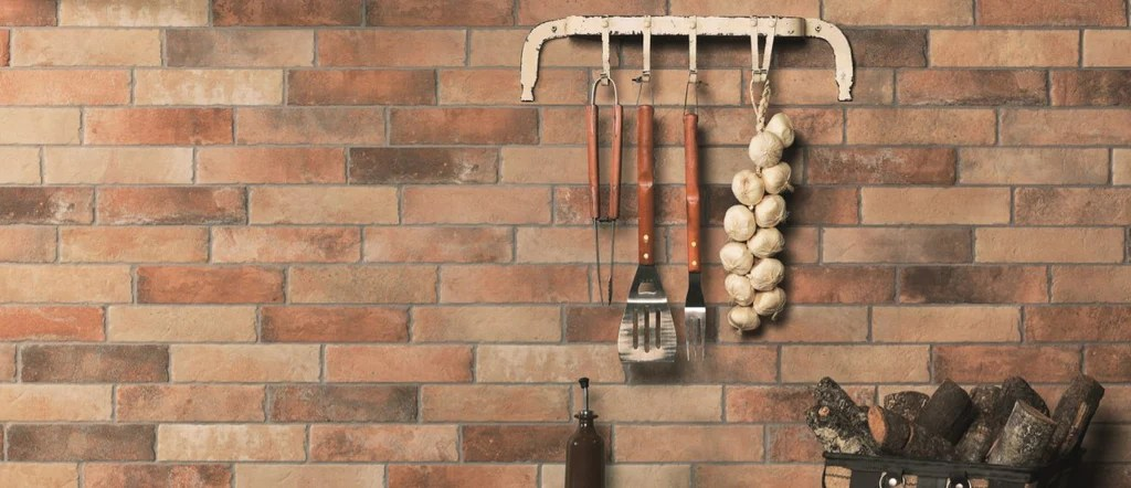 2 5x10 brick style porcelain subway tile in classic red