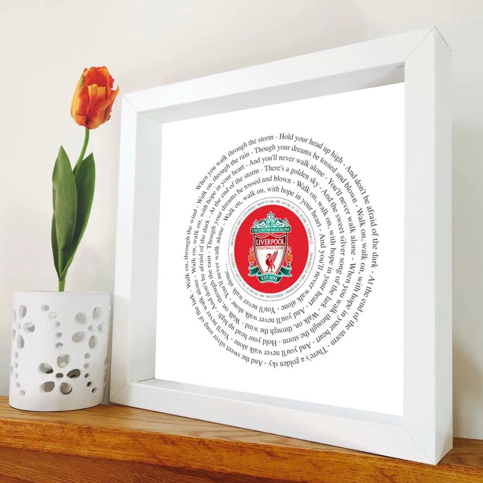 Liverpool - You'll Never Walk Alone - Framed Lyrics - Liverpool Chant – SausageDogDesigns
