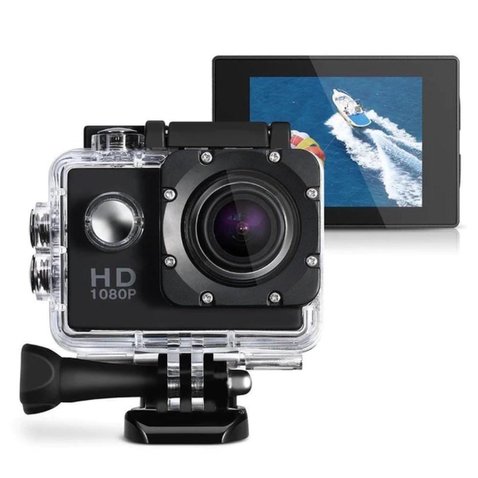s l1600 b4c92ecb 3177 41fe a2b7 16935e24b302 grande - Action Caméra Enregistreur Vidéo HD 1080 P 12MP  Étanche 30 M - Gold + Trepied