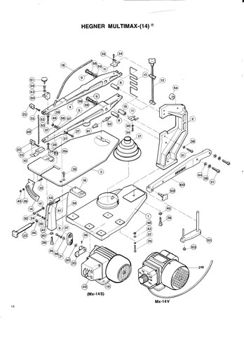 m14 parts diagram ford expedition wiring online hegner multimax 14 2 advanced machinery we