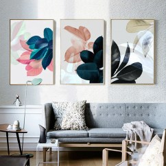 Paintings For Living Room Modern Carpet Design Nordic Art Wall Pictures Posters Plants Leaves Canvas Painting