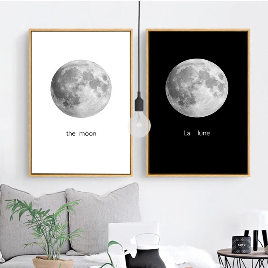 modern the moon canvas