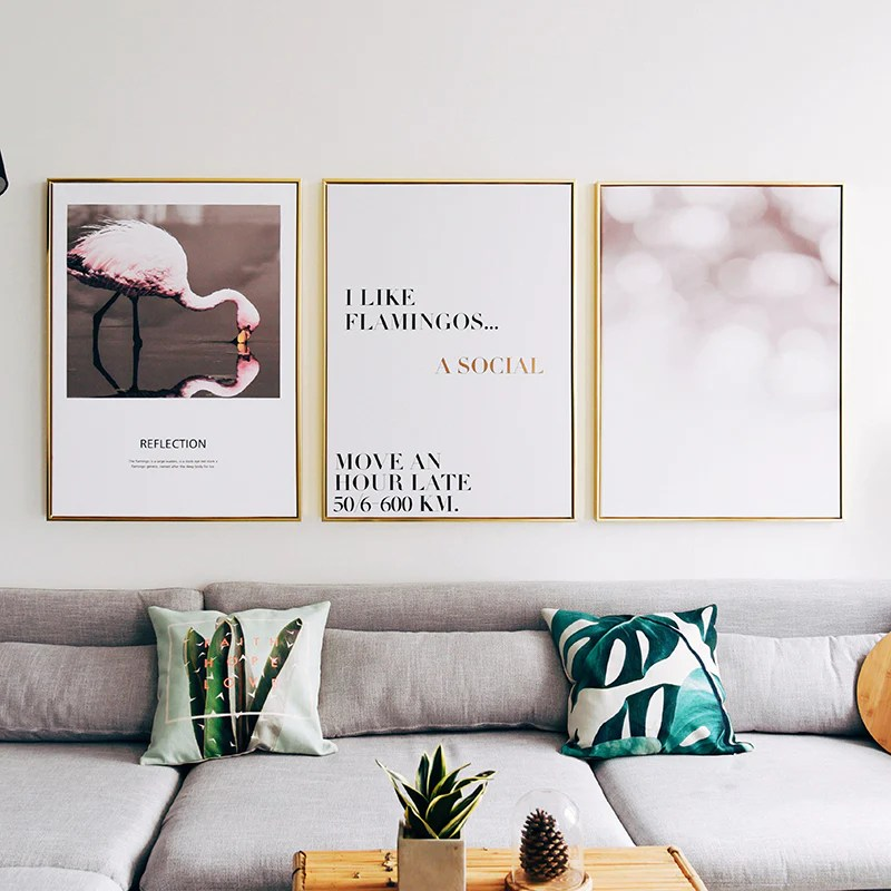 flamingo wall pictures for