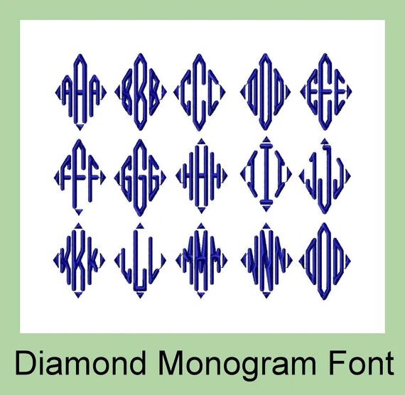monogram embroidery font