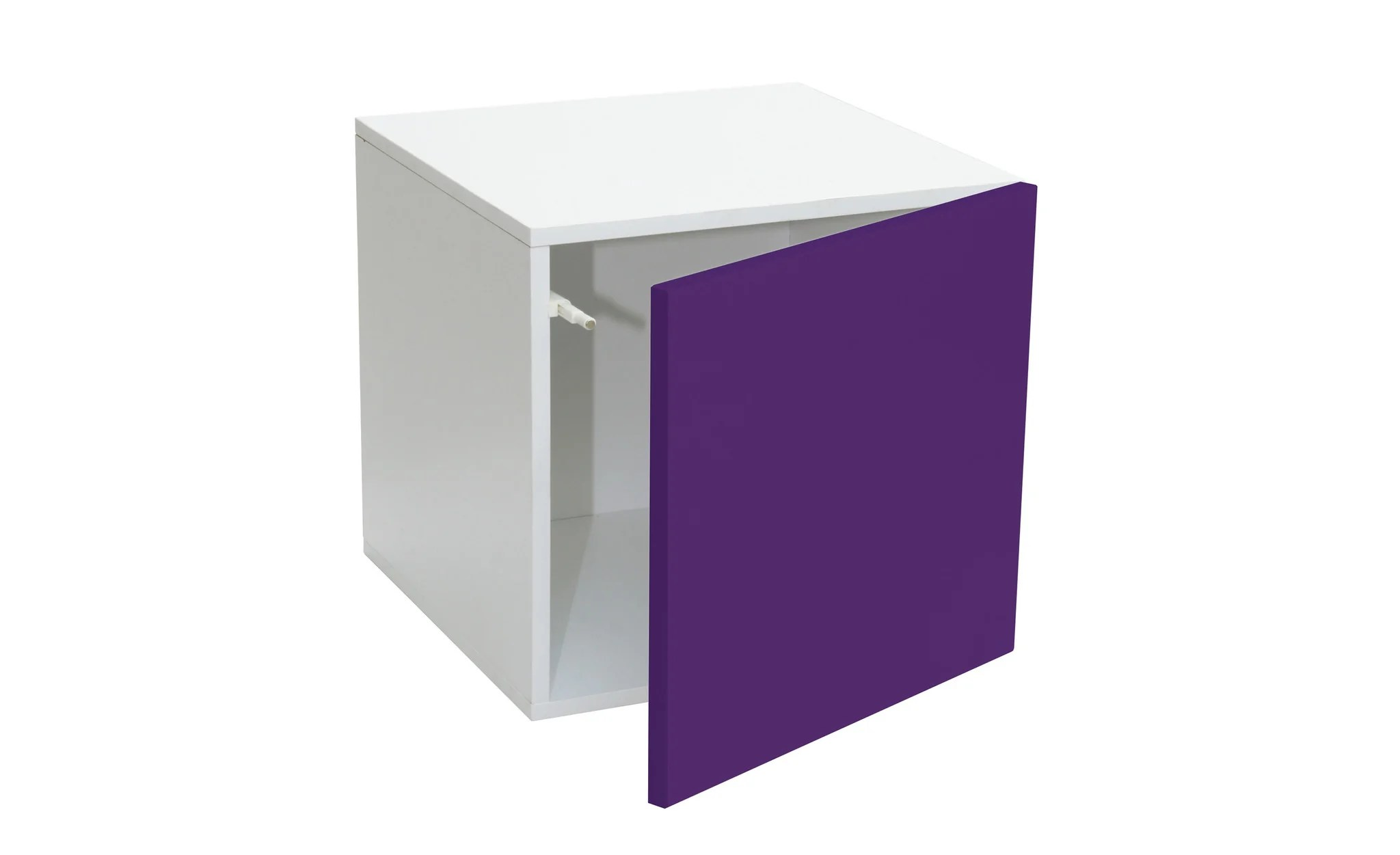 Prana Door Container With Purple High Gloss Finish Push Open System