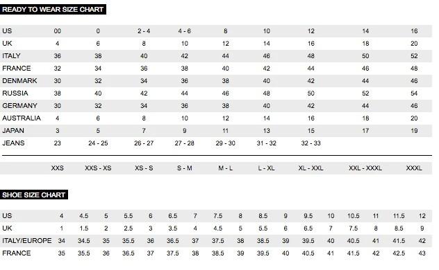 Size chart also  aco doublebay rh acodoublebay