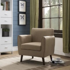 Living Room Arm Chair Bradington Truffle Set Emersyn Brown Upholstered Fabric Oversized Accent With Solid Wood Legs Pilaster Designs